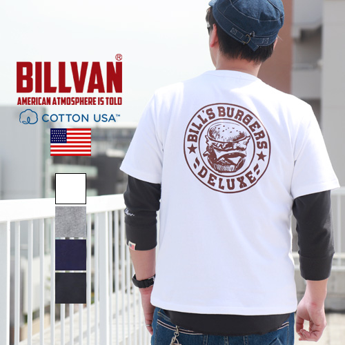 Tシャツ BILLS BURGERSバックプリント ヘビーTシャツBILLVAN 210324 ビルバン メンズ