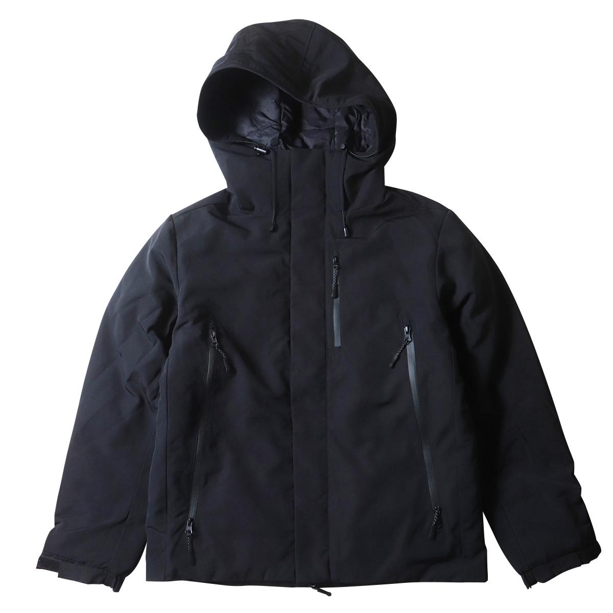 ダウン・フェザーMIX 中綿フーデッド ジャケット ブルゾン メンズ 防寒 防風