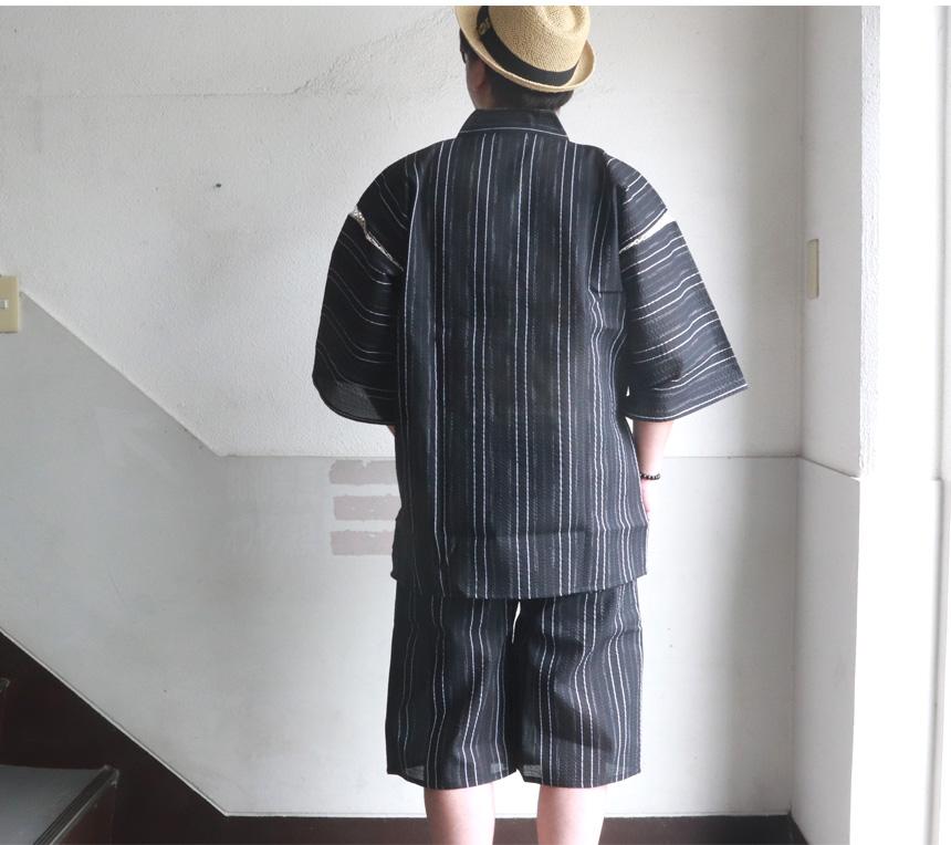 シジラ織 甚平 じんべい 和装 夏 ルームウェア 部屋着