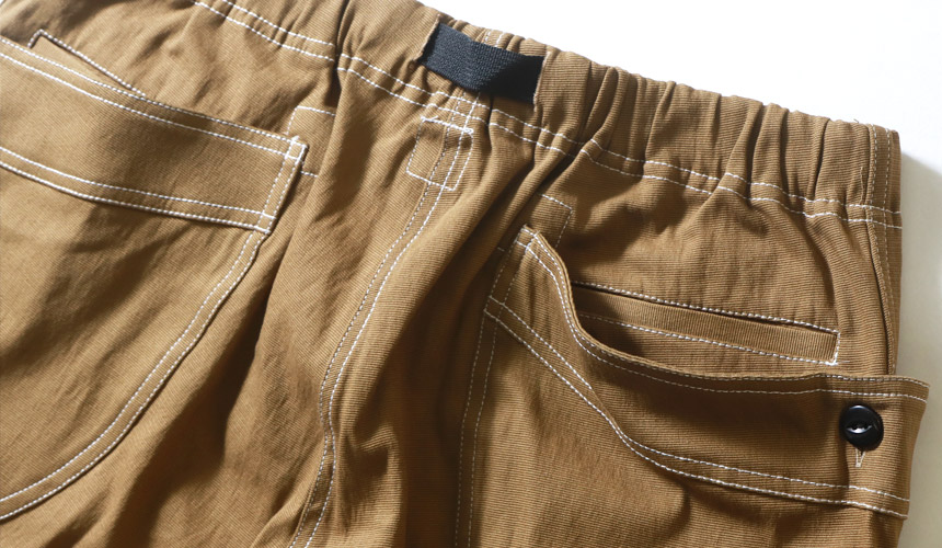 GO SLOW CARAVAN ゴースローキャラバン ストレッチキャンバス 脇ポケット イージーショートパンツ クライミングパンツ