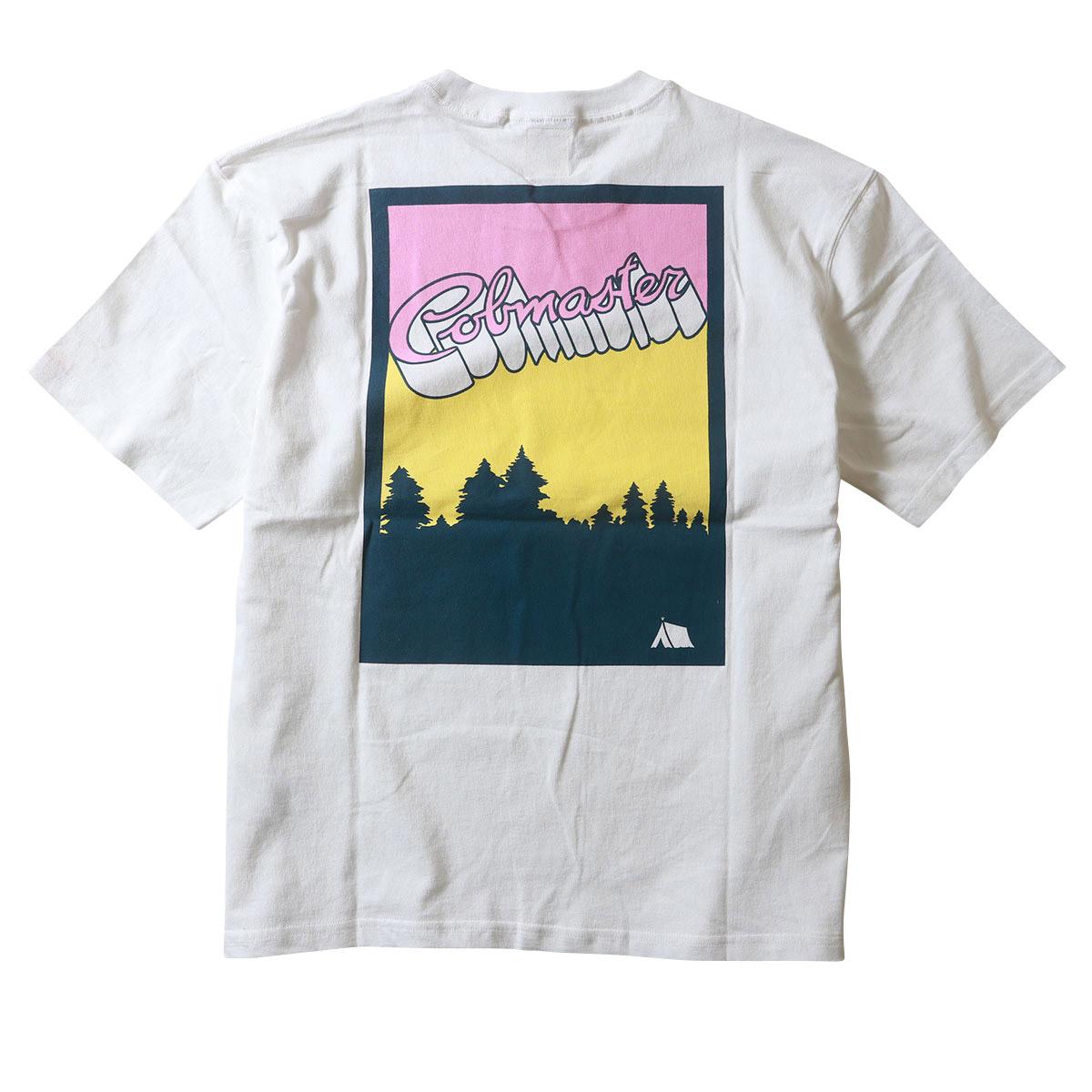 COBMASTER コブマスター キャンププリント 機能素材 Tシャツ 半袖 吸汗速乾 抗菌防臭