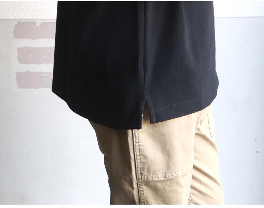 ヘビー米綿 天竺 ビッグシルエット ボートネック 長袖バスクシャツ