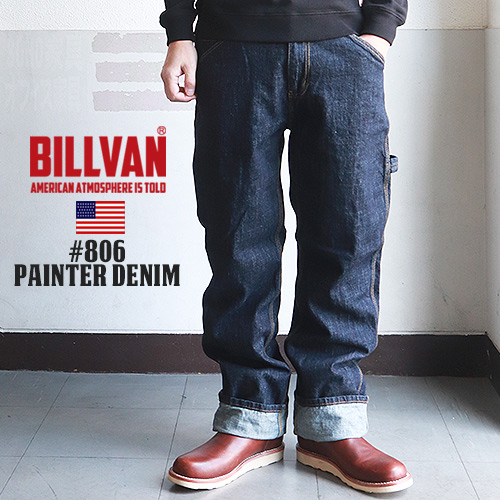 BILLVAN #806 ワンウォッシュペインターデニムパンツ ビルバン ジーンズ メンズ アメカジ