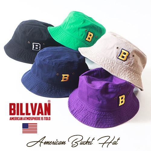 BILLVAN アウトドア・バケットハット アメカジハット ビルバン ユニセックス