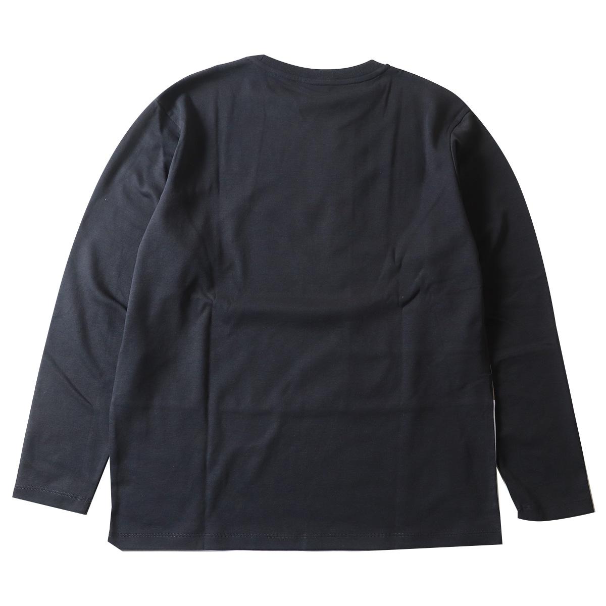 リサイクルポリエステルポンチ ブロッキング 切替え  長袖ロングTシャツ ロンT