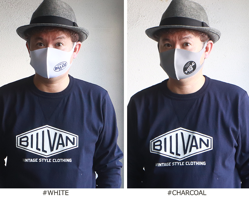 BILLVAN  定番アメカジプリント3枚セット デイリー・マスク ビルバン 洗えるマスク