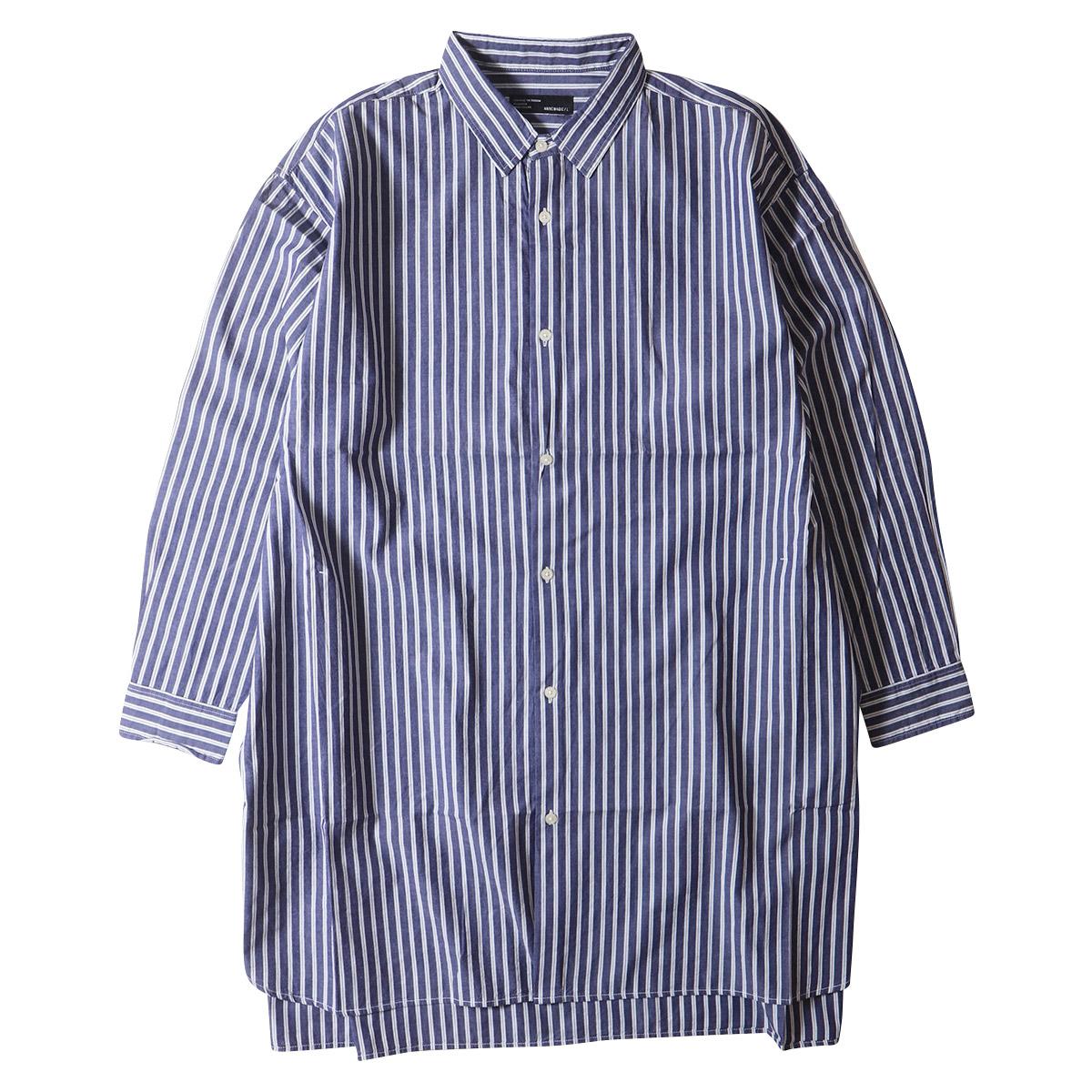 ナチュラル コットン100% ブロード・ロングシャツ アメカジ