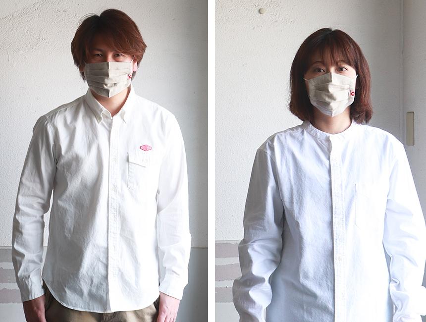 江坂ジーンズ 日本製 麻 リネン・ナチュラル・レギュラーサイズ・アメカジ マスク 洗えるマスク 布マスク エコマスク