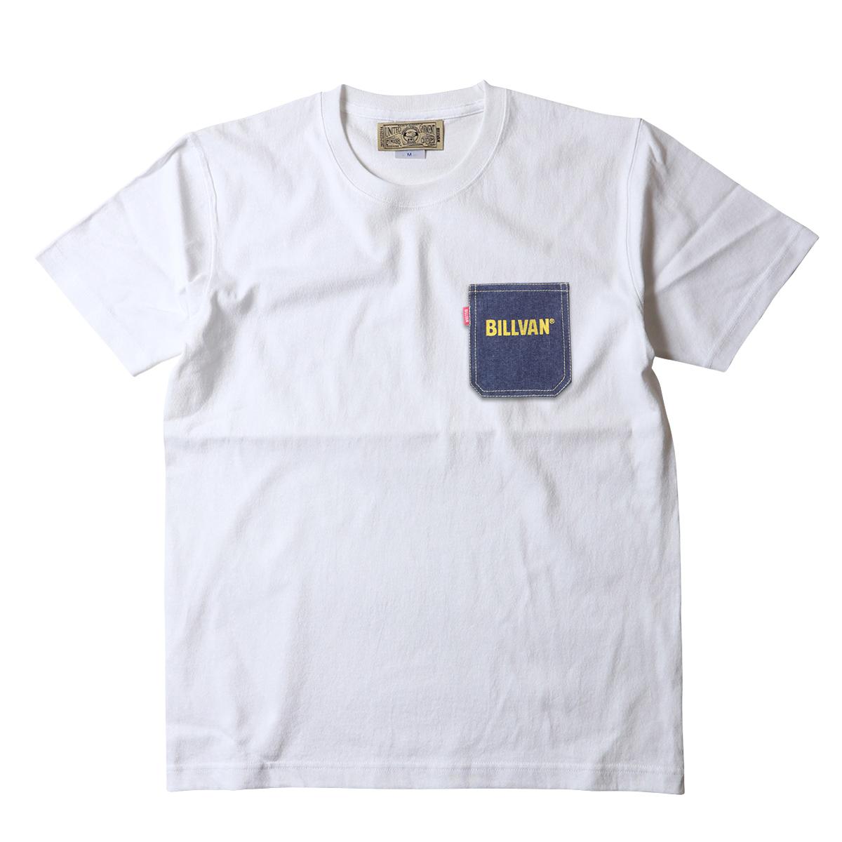BILLVAN アメカジ デニム・ポケット ヘビーTシャツ オープンエンド糸 ワークTシャツ メンズ アメカジ