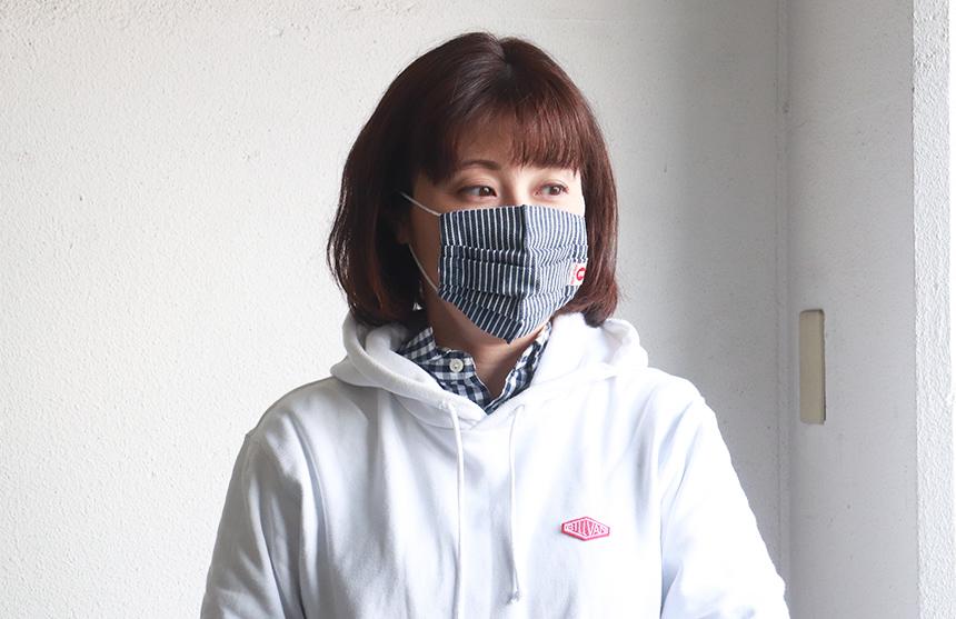 江坂ジーンズ 日本製ヒッコリーデニム・スモールサイズ・アメカジ マスク 洗えるマスク 布マスク エコマスク/小顔・女性・子どもマスク
