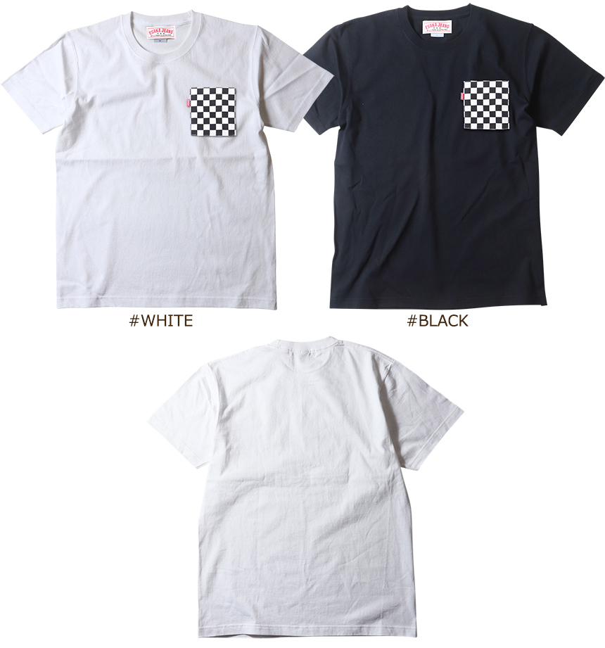 江坂ジーンズ チェッカーポケット ヘビー Tシャツ  アメカジ ビルバン
