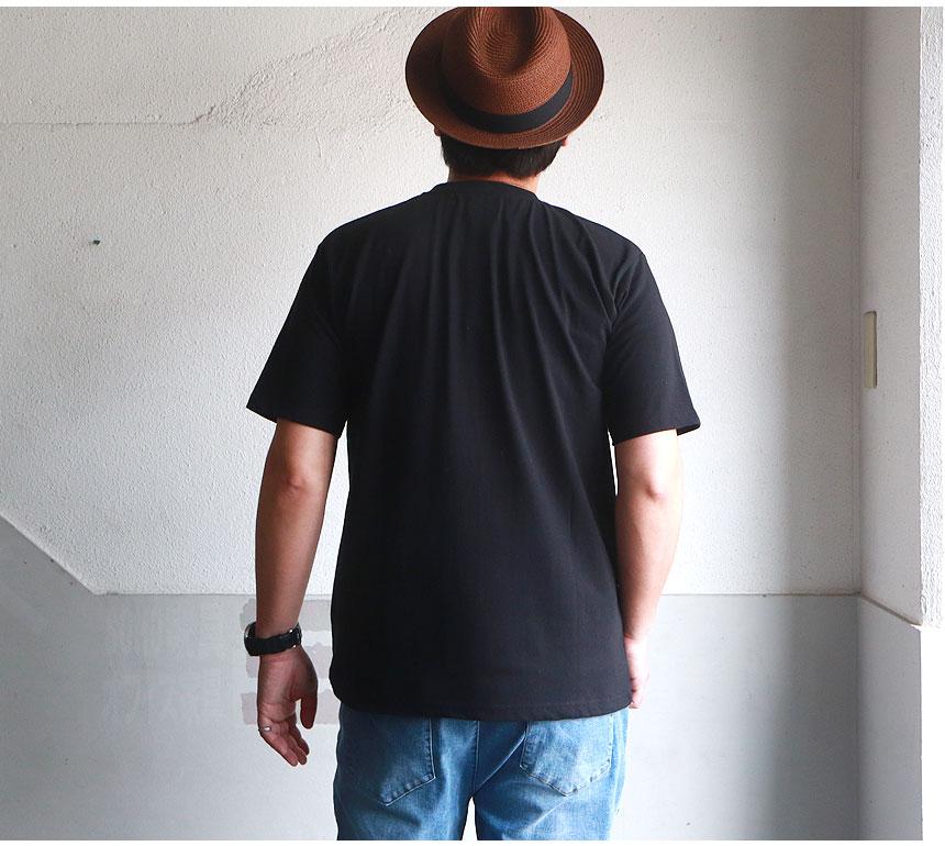 モノグラムデザイン 天竺ピグメント加工 半袖Tシャツ
