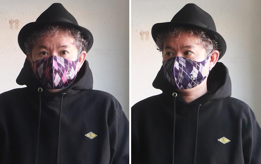 SIGN STATE アーガイル柄・ストレッチ・マスク 3枚セット サインステート 洗えるマスク 秋冬 おしゃれマスク