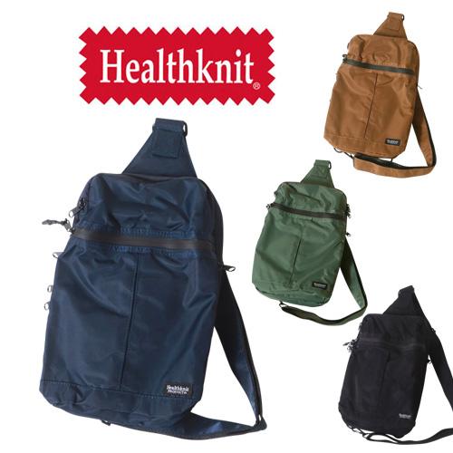 HealthKnit ヘルスニット撥水ナイロン11ポケット ボディバッグ  アメカジ ミニバッグ ショルダー