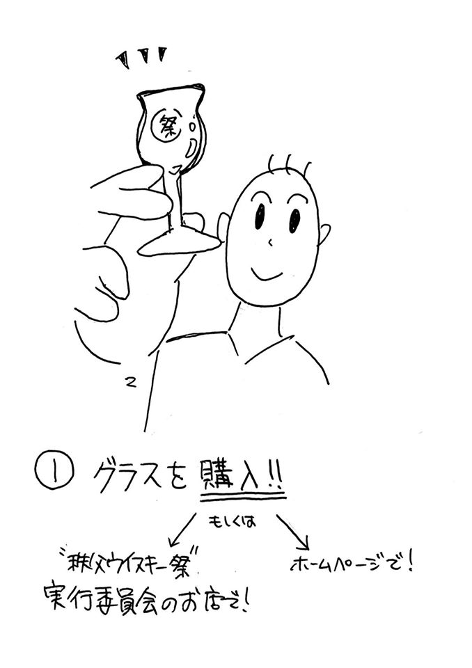 UCHIDE-NO-KODUCHI GLASS (6 PIECES PACK)<br>CHICHIBU WHISK(E)Y MATSURI<br>うちでの小槌グラス 6脚セット<br>秩父ウイスキー祭【送料込み】