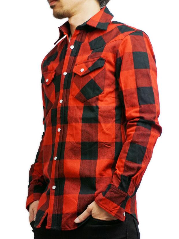ROURKE RANgE  buffaro plaid heavy shirts RED