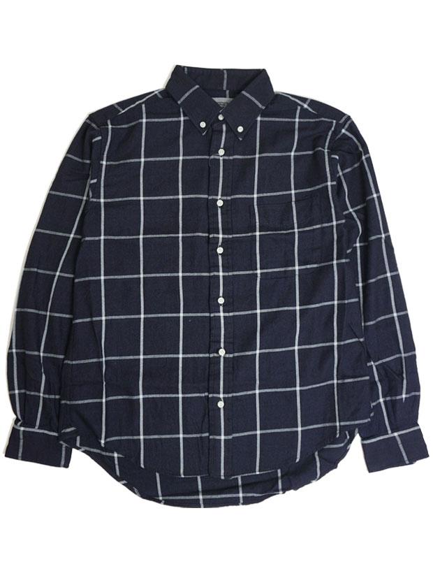 JOHN'S Check BD Shirt INDIGO