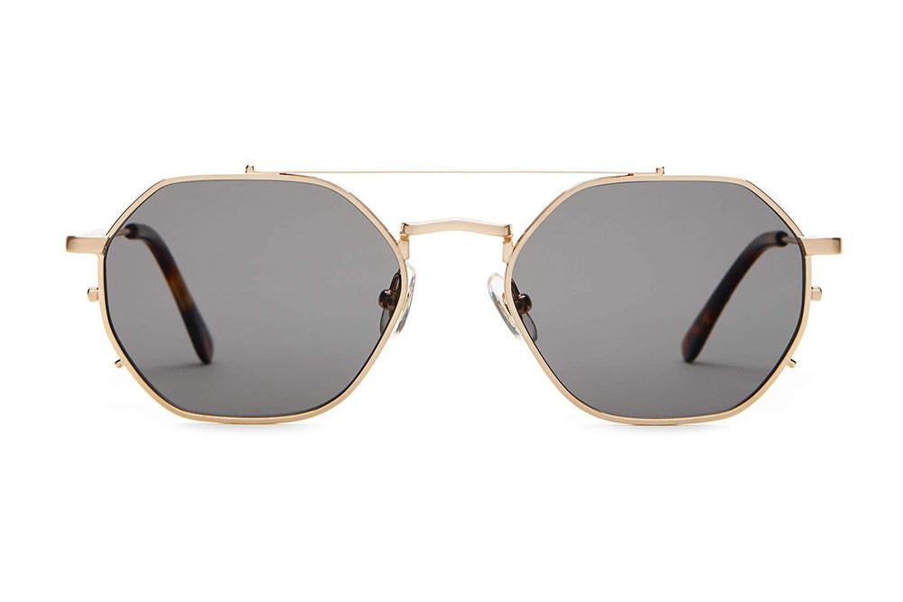CRAP eyewear The Jazz Safari Brushed Gold & Dark Tortoise / Polarized Grey