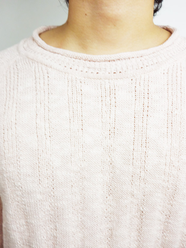 Toecutter Rib Feather Knit Crew L/S PINK