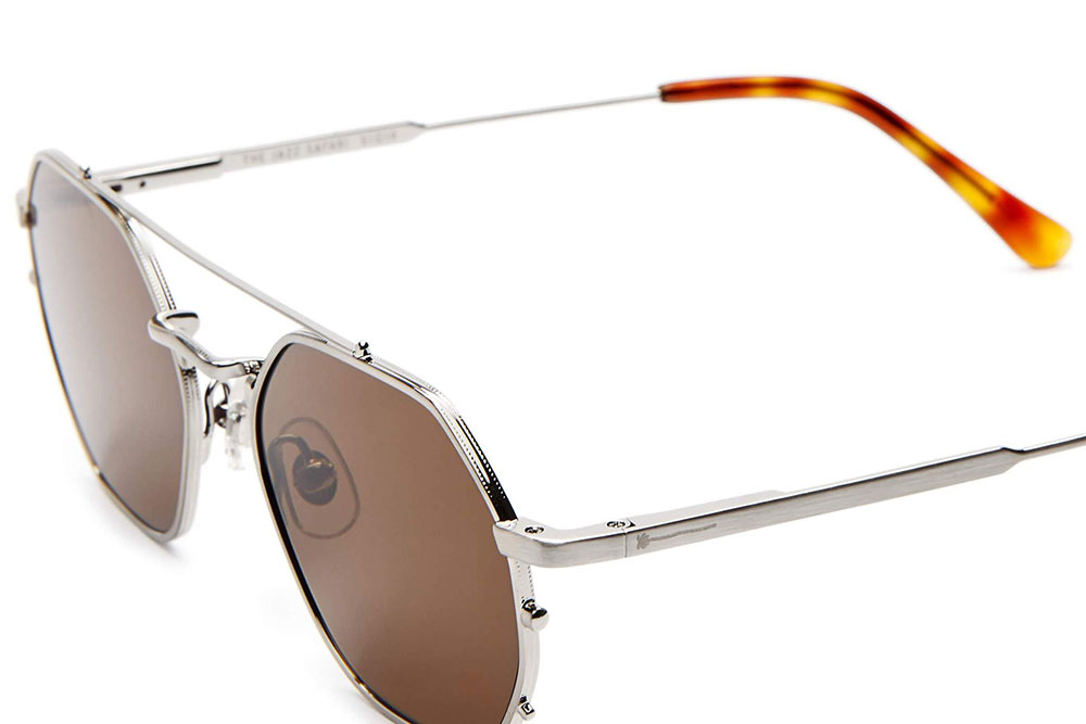CRAP eyewear The Jazz Safari Brushed Silver & Havana Tortoise / Amber