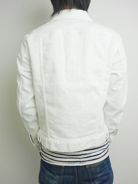 SeaGreen MEATO DENIM JACKET WHITE