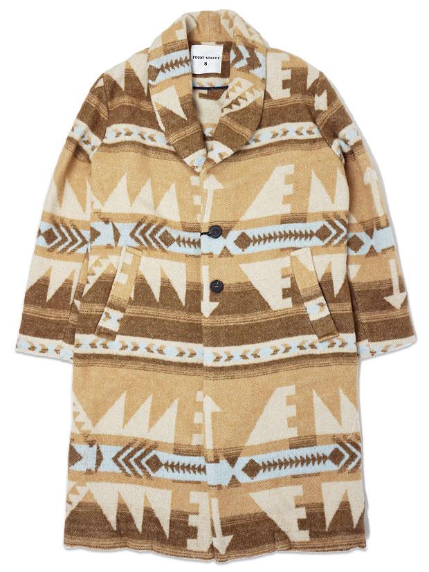 FRONTSTREET8 Blanket Chester Coat -Chimayo- BEIGE