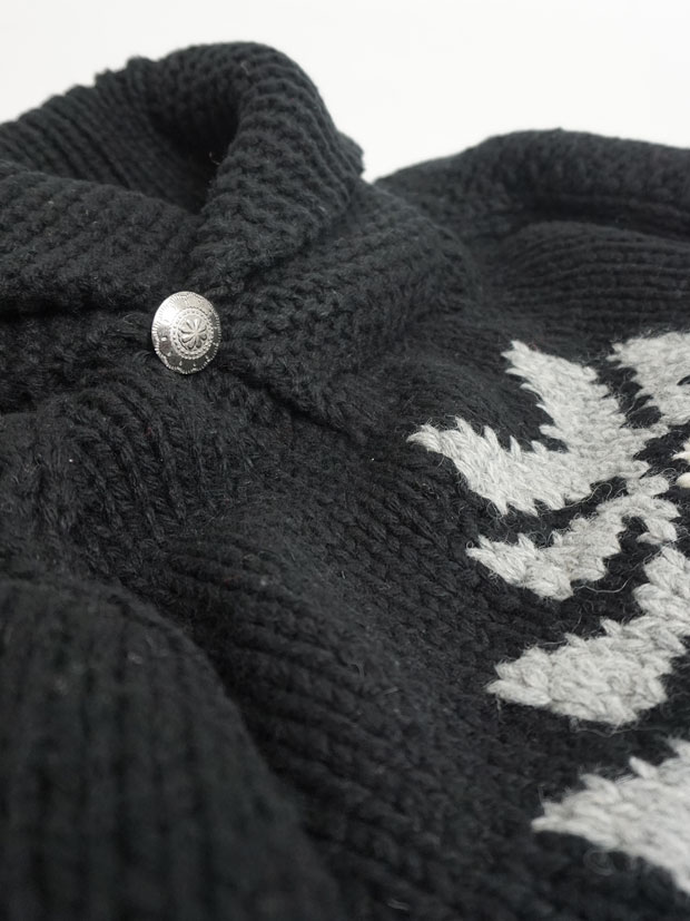 JOHN'S x LOCKWOOD Hand Knit South West Pullover BLACK