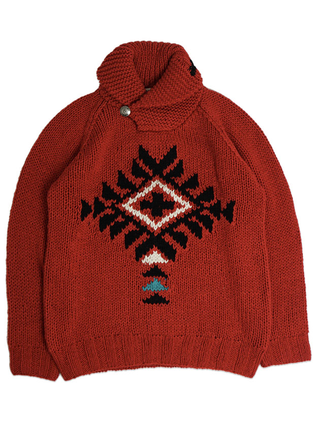 JOHN'S x LOCKWOOD Hand Knit South West Pullover RED