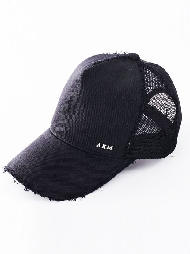 AKM DENIM BASEBALL CAP BLACK RIGID