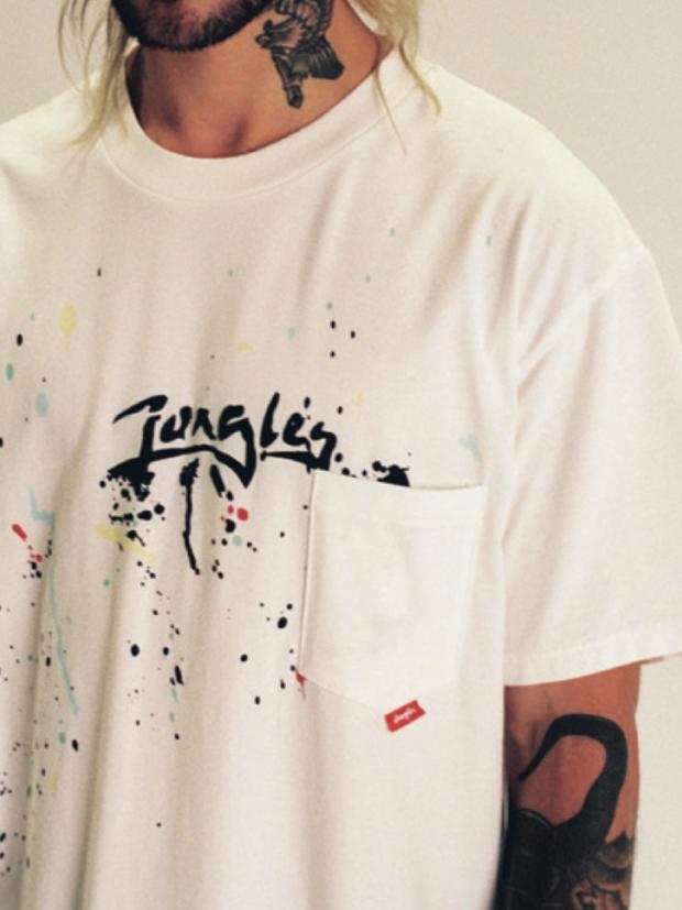 JUNGLES PAINT SPLATTER T S/S / WHITE