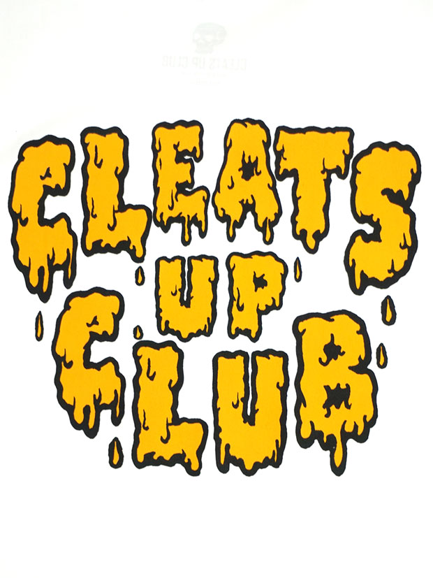 CLEATS UP CLUB SLIME TEE WHITE