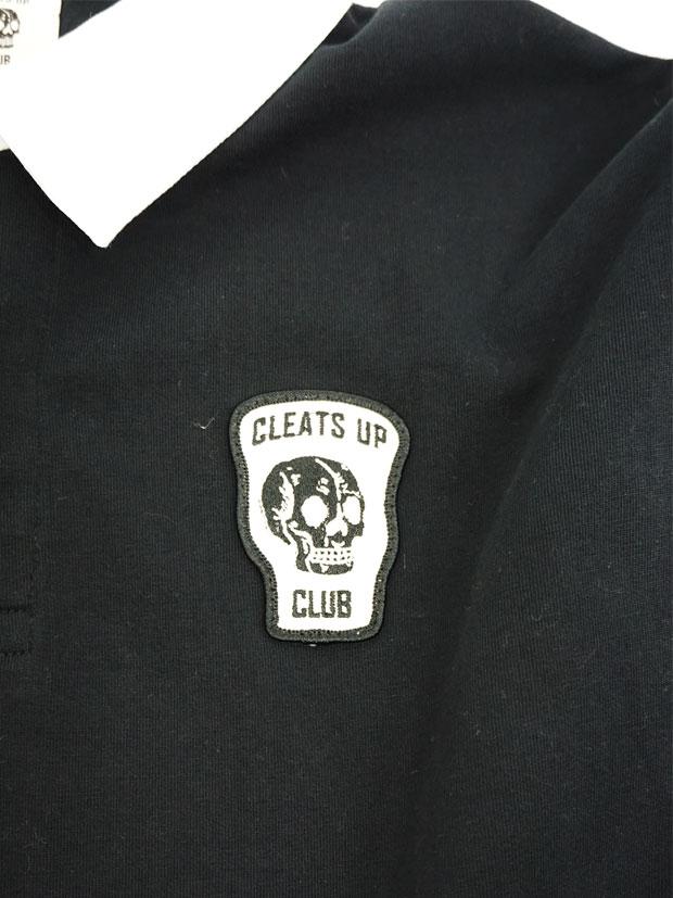 CLEATS UP CLUB RUGBY SHIRT LS BLACK
