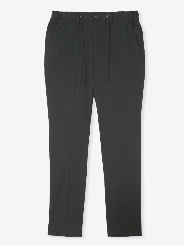 junhashimoto SIDE GATHER PANTS -TENCEL TWILL STRETCH / BLACK