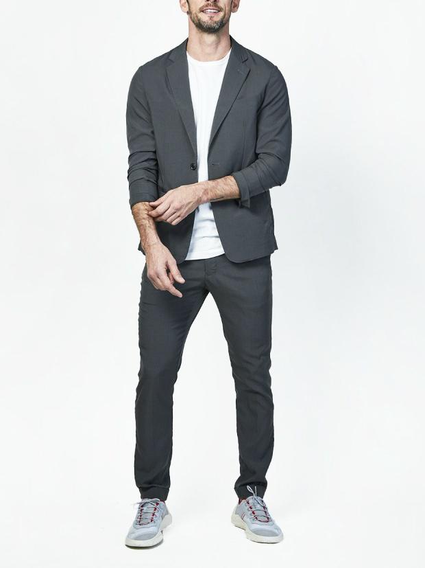 junhashimoto SIDE GATHER PANTS -TENCEL TWILL STRETCH / BLACK