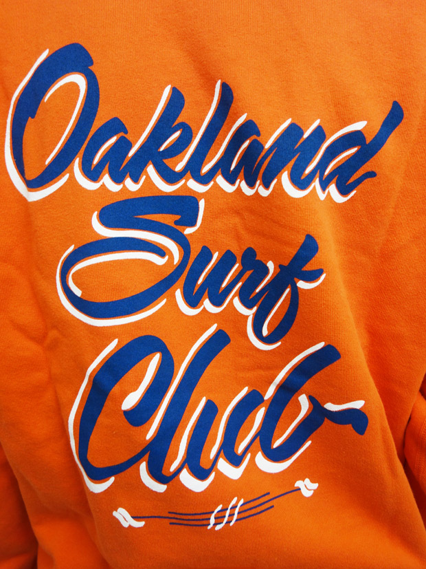 Oakland Surf Club Alfried sign crew Orange