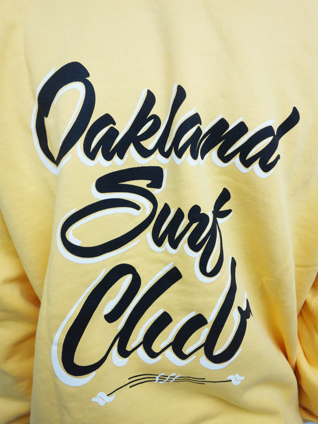 Oakland Surf Club Alfried sign crew Yellow
