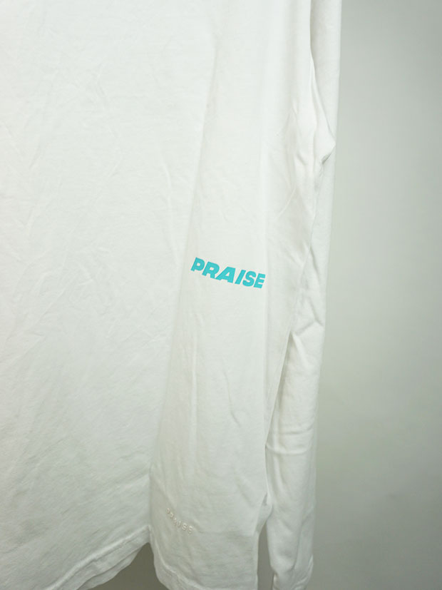 PRAISE. CORE L/S TOP (W/Graphics) WHINTER WHITE