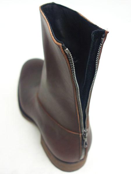 C DIEM S21M Vaqueta back zip boots BROWN