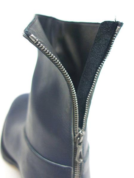 C DIEM S21M Vaqueta back zip boots NAVY