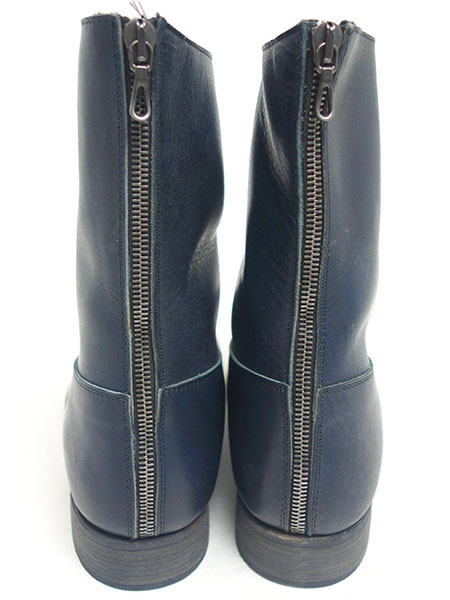 C DIEM S21M Vaqueta back zip boots BLACK
