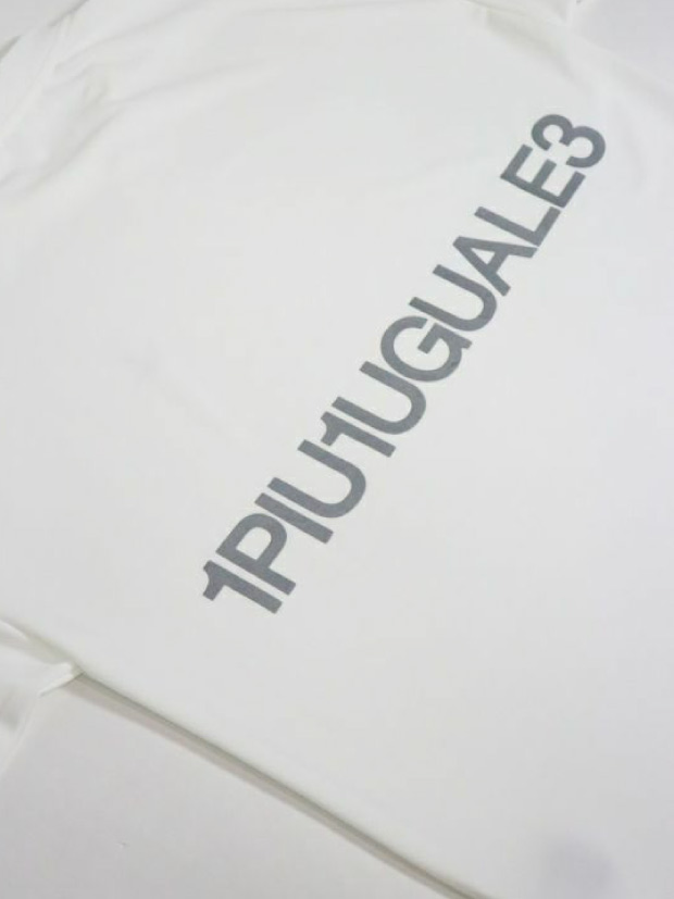 1PIU1UGUALE3 BIG CREW / REFLECTOR PRINT[WHITE]
