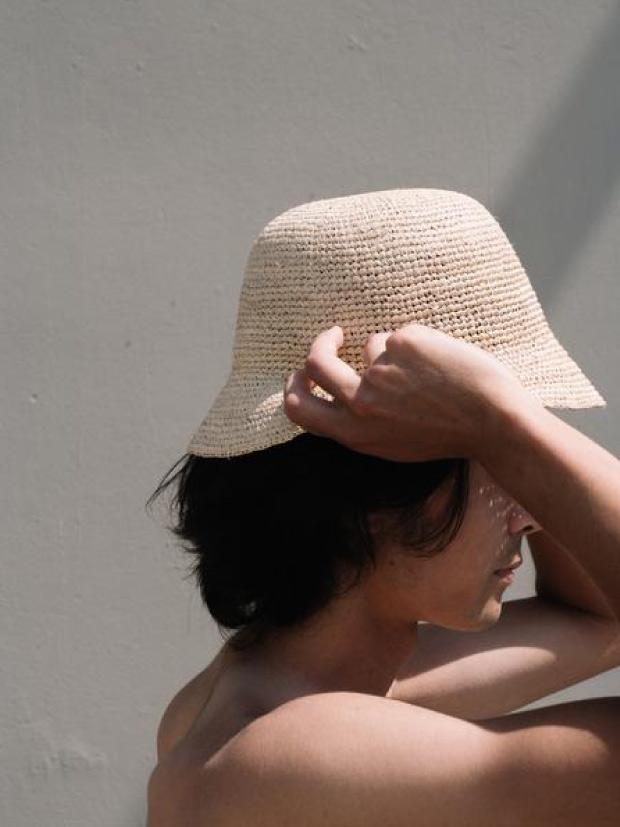 SALT SURF WOVEN RAFFIA BUCKET HAT