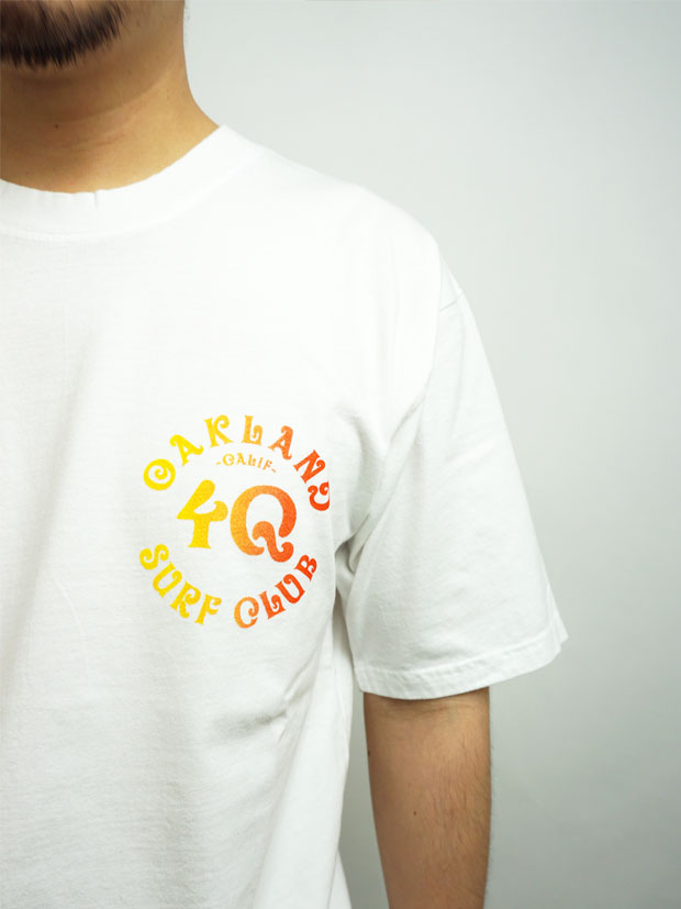 Oakland Surf Club x 4Q  Tee WHITE/GRADIENT