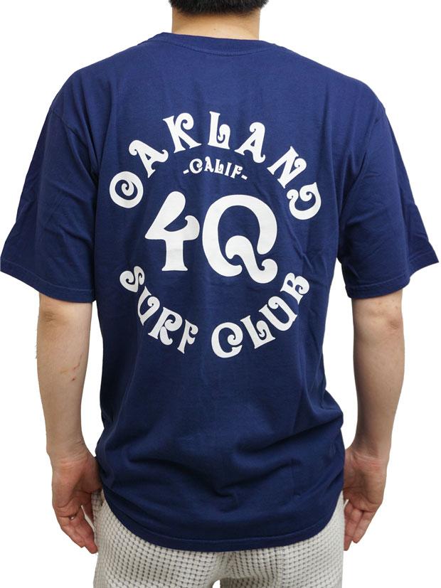Oakland Surf Club x 4Q  Tee NAVY