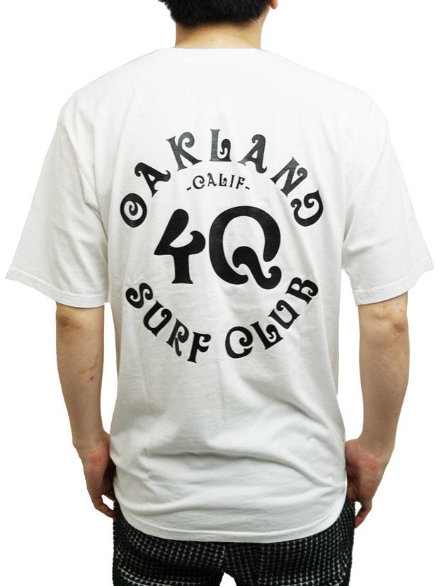 Oakland Surf Club x 4Q  Tee WHITE/BLACK