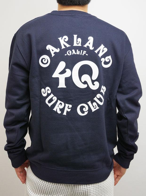 Oakland Surf Club x 4Q  Fleece Crew NAVY