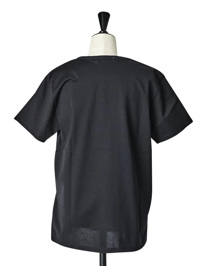 Dot Rubber Print T-shirt / black
