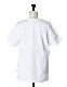 Check Line Print T-shirt / white