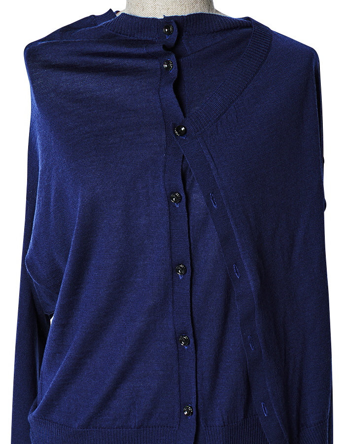Asymmetry 2way Cardigan / navy