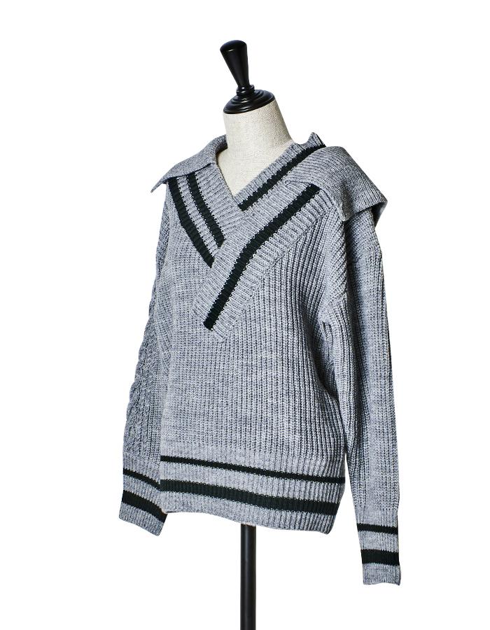 Tilden Big Knit / gray